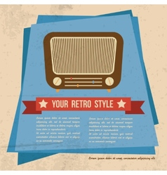 Retro style poster vector image vector image