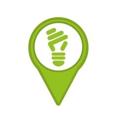Saver bulb isolated icon design vector
