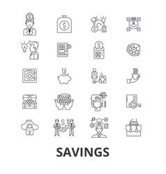 savings save money piggy bank money sale vector image vector image