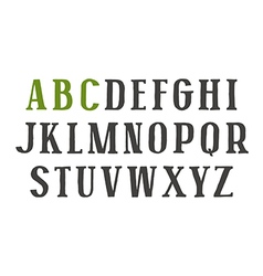Serif font in the style of hand drawn graphics vector image vector image