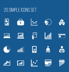 set of 20 editable logical icons includes symbols vector image vector image