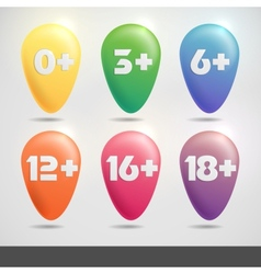 Set of age restriction signs vector