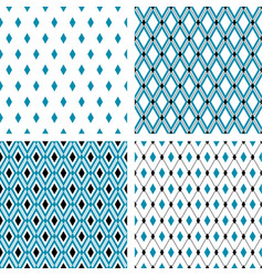 set of seamless patterns with rhombuses vector image vector image