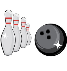 skittles and black ball vector image
