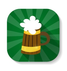 St patrick day mug with beer icon vector
