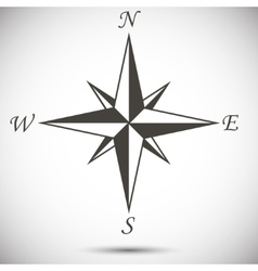 Windrose sign vector