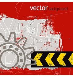 Grunge technology background vector image