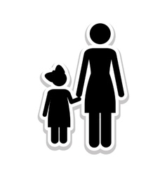 Mother and child pictogram icon image vector