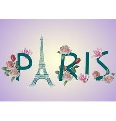 Paris text design vector