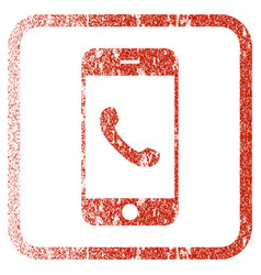 cell phone framed textured icon vector image