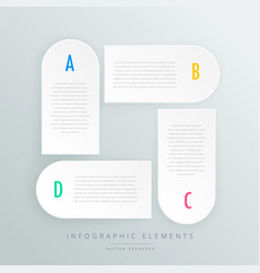 white infographic steps presentaion template vector image