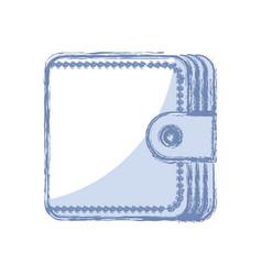 wallet accessory icon vector image