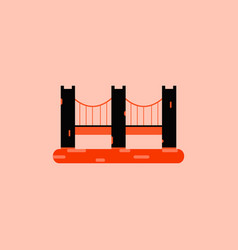 San francisco bridge metal bridge vector