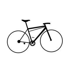 silhouette bicycle sport transport leisure vector image