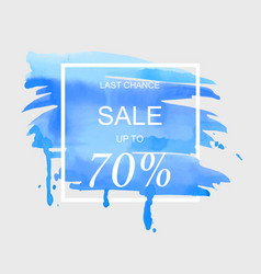 Sale up to 70 percent off sign over art brush vector