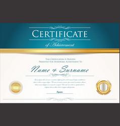 Certificate or diploma retro design template 4 vector