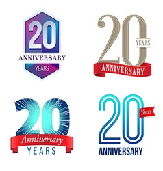 20 Years Anniversary Symbol vector image vector image