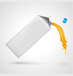 Flowing juice pack vector image
