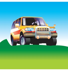 Suv illustartion vector