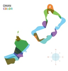 Abstract color map of oman vector
