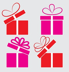 The gift box on a white background vector