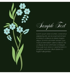 Sprig of forget-me vector