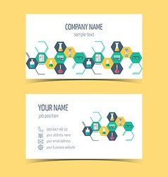 Business cards for chemical and scientific vector