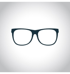 Eyeglasses black icon vector