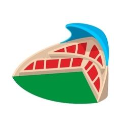 Sports stadium with canopy cartoon icon vector