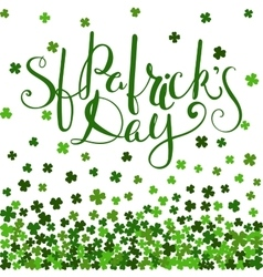 St patricks day lettering vector
