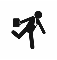 Running businessman icon simple style vector