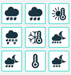 Air icons set includes icons such as drizzle vector