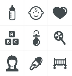Baby Icons Set Design vector image