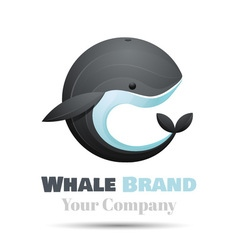 Colorful 3d Volume Logo Design whale icon symbol vector image vector image