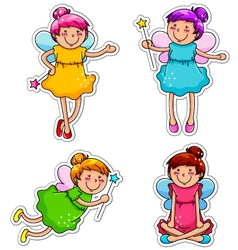 cute fairies vector image vector image