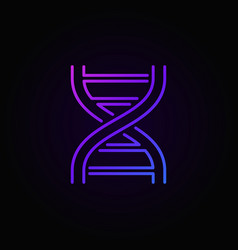 Double helix colorful icon dna symbol vector