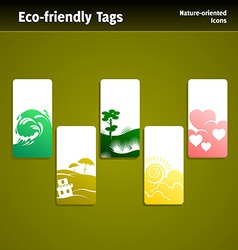 eco sales tags vector image
