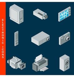Electronic equipment icons vector image