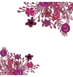 Floral card Bouquet vector image