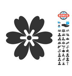 Flower icon with free bonus vector
