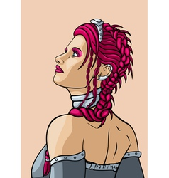 Girl with hairdress in the french style vector image vector image