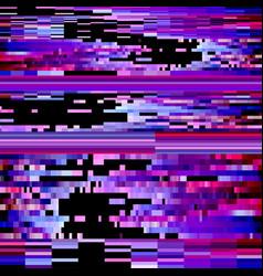 Glitch effect distortion background vector