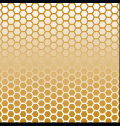 hexagon halftone gold color vector image vector image