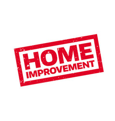 Home improvement rubber stamp vector