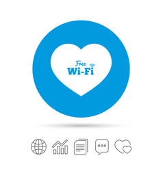 Love free wifi sign wifi symbol vector