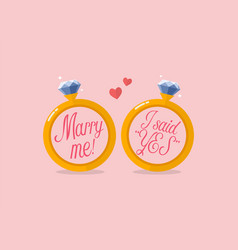 marry me and i said yes vector image vector image