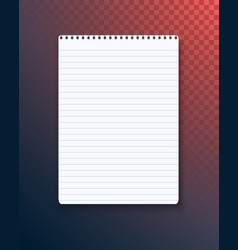 notepad paper notebook template vector image vector image