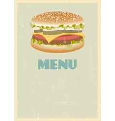 Retro menu cover vector image vector image