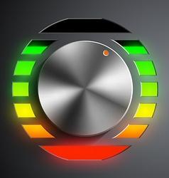 Round metal regulator vector image