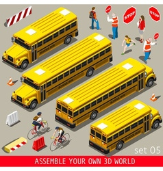 School Bus Vehicle Isometric vector image vector image